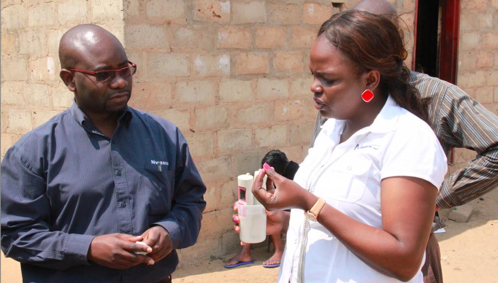 Staff from Zambian Water utility, NWASCO